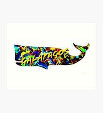 Galapagos whale  Art Print