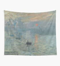 Impression Sunrise Painting by Claude Monet Wall Tapestry
