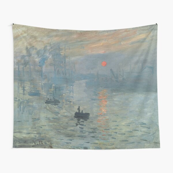 Impression Sunrise Painting by Claude Monet Tapestry