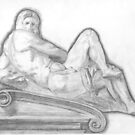 Sketch of Michelangelo's 'Day' Sculpture by lissygrace