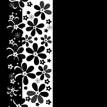 Black and white floral  2 by fuzzyfox
