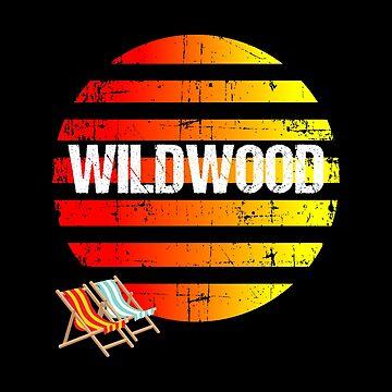 WILDWOOD Vintage Jersey Shore Beach Souvenir Gift by Katnovations
