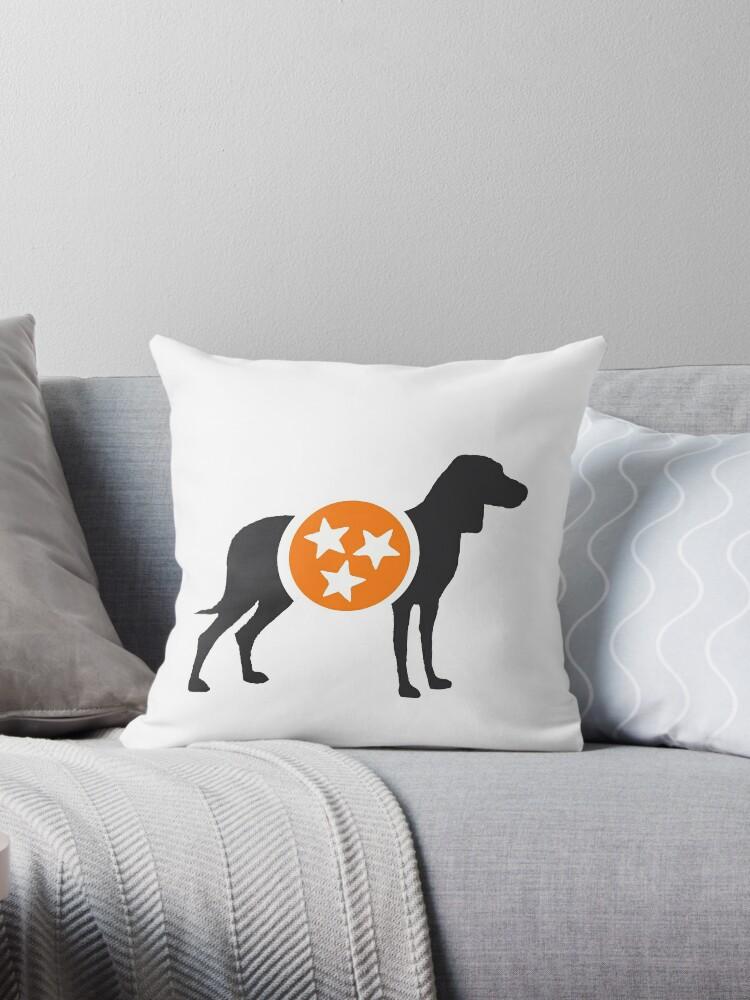 Dark Gray Hound with Orange & White Tri-Star by Morgan Turrentine