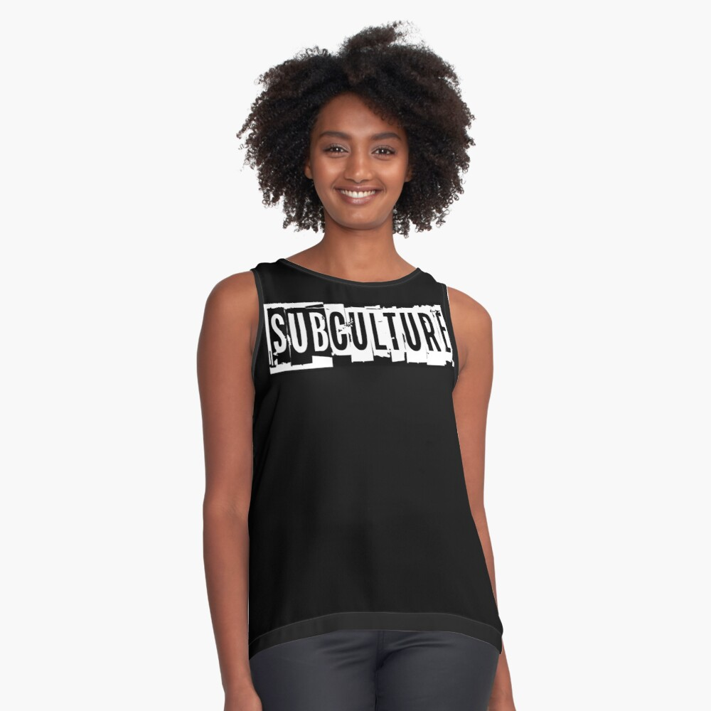 Sub Culture:  Apparel & Accessories Sleeveless Top