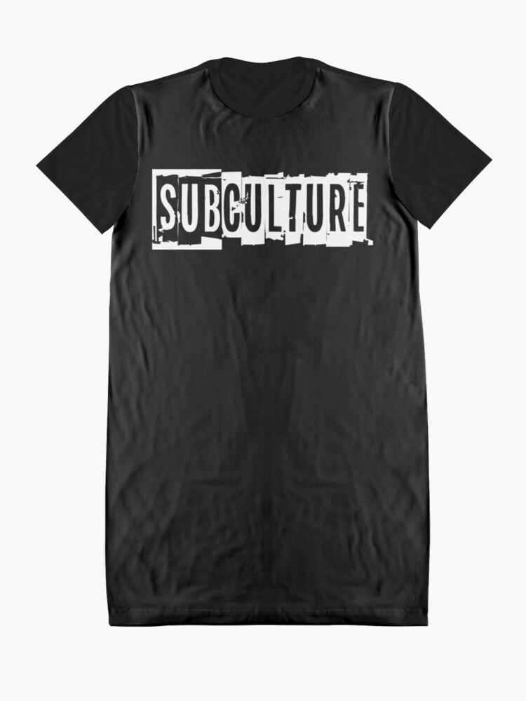 Alternate view of Sub Culture:  Apparel & Accessories Graphic T-Shirt Dress