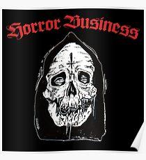 Horror business skull face Poster