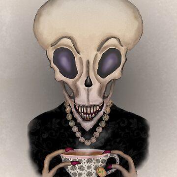 Alien Teatime by Fullfrogmoon