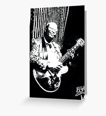 BB KING Tribute Greeting Card