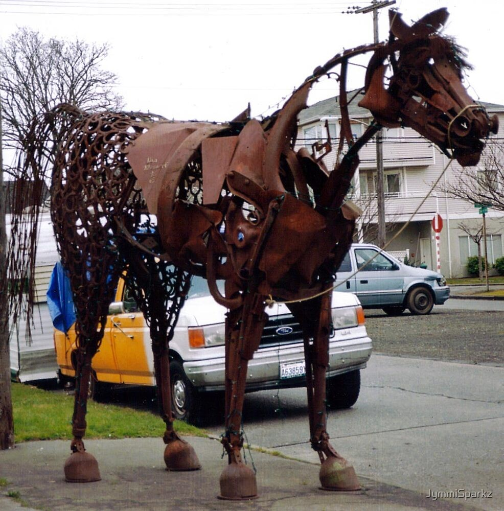 Metal Sculpture of Horse by JymmiSparkz
