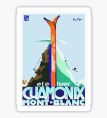 Vintage Travel Poster France - Chamonix - Mont Blanc Sticker