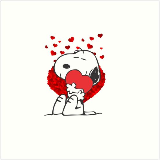 Snoopy love heart peanuts