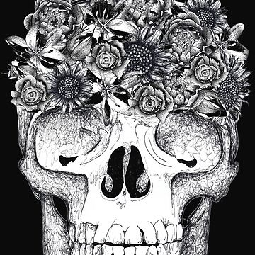 Skull with flowers  by Surrealist1