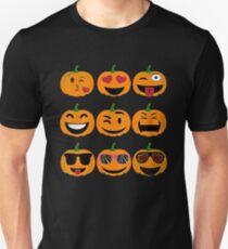 Emoji Pumpkin Halloween Unisex T-Shirt