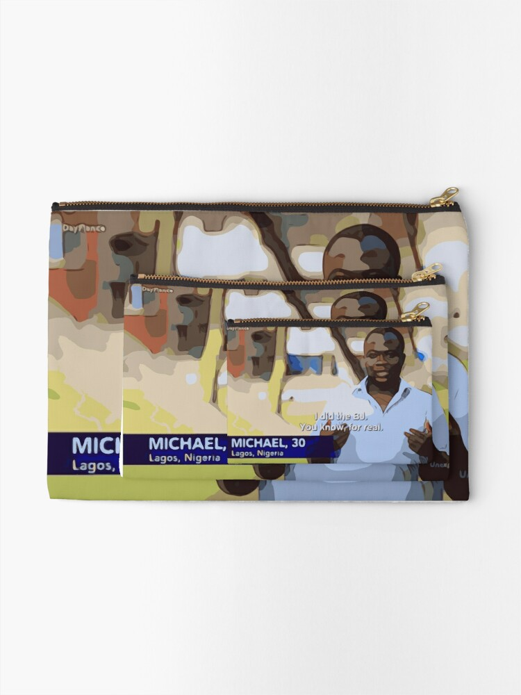 Alternate view of Michael did the BJ Zipper Pouch