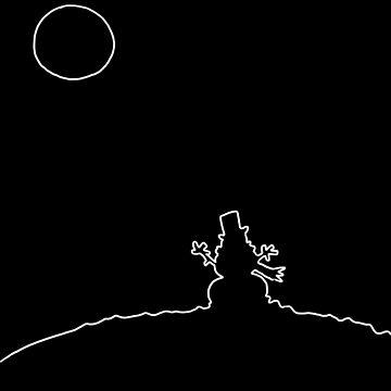 Full moon #2 by VibrantVibe