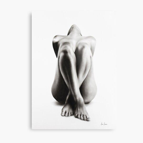 Nude Woman Charcoal Study 63 Metal Print