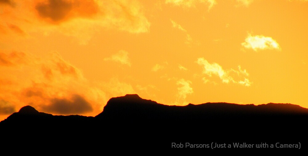The Lake District: Langdales in Silhouette by Rob Parsons (AKA Just a Walker with a Camera)