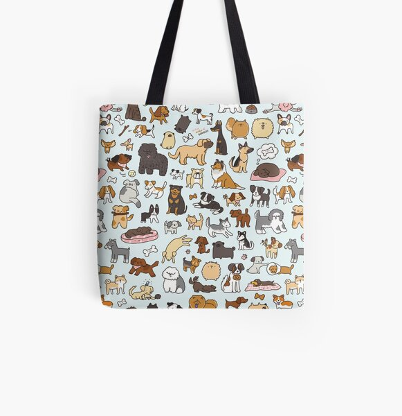 Doggy Doodle All Over Print Tote Bag