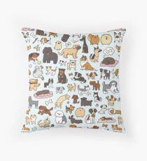 Doggy Doodle Throw Pillow