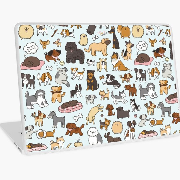 Doggy Doodle Laptop Skin