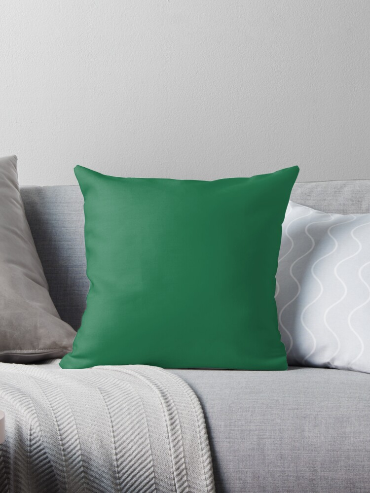 PLAIN SOLID DARK SPRING GREEN - FESTIVE CHRISTMAS COLORS ACCENTS AND HUES   by ozcushions