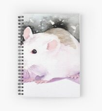 Star, the fancy rat. Spiral Notebook