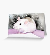 Star, the fancy rat. Greeting Card