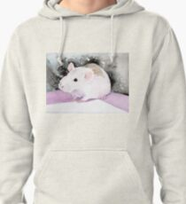 Star, the fancy rat. Pullover Hoodie