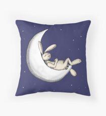 Crescent moon nap Throw Pillow