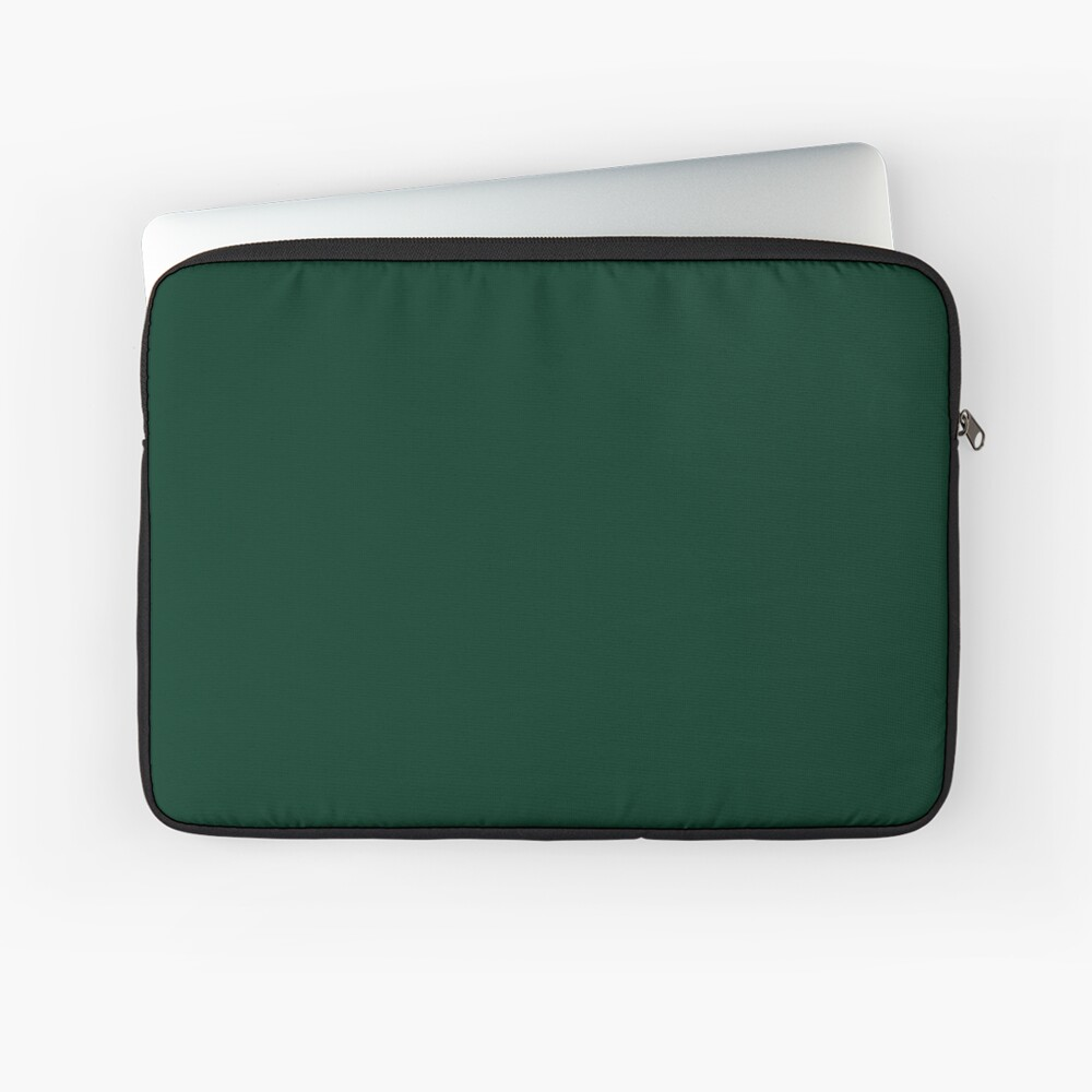 Christmas Green Color.Plain Solid Color Dark Green Festive Christmas Colors Accents And Hues Laptop Sleeve