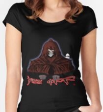 GRIM REAPER AND SIDE KICK/ PISS OFF Women's Fitted Scoop T-Shirt