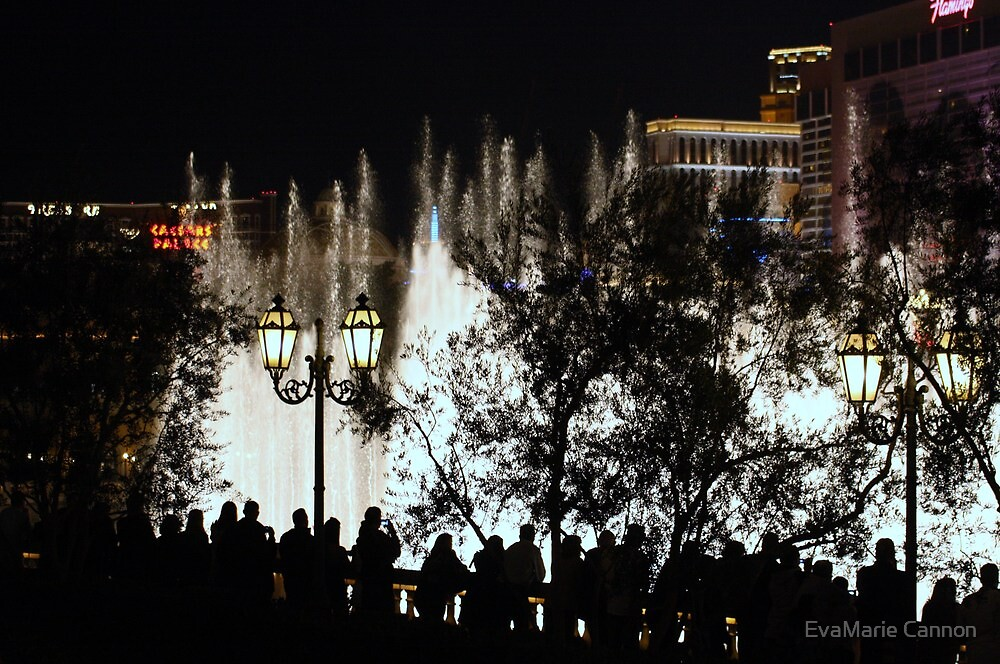 Watching the Water Features...Bellagio by EvaMarie Cannon