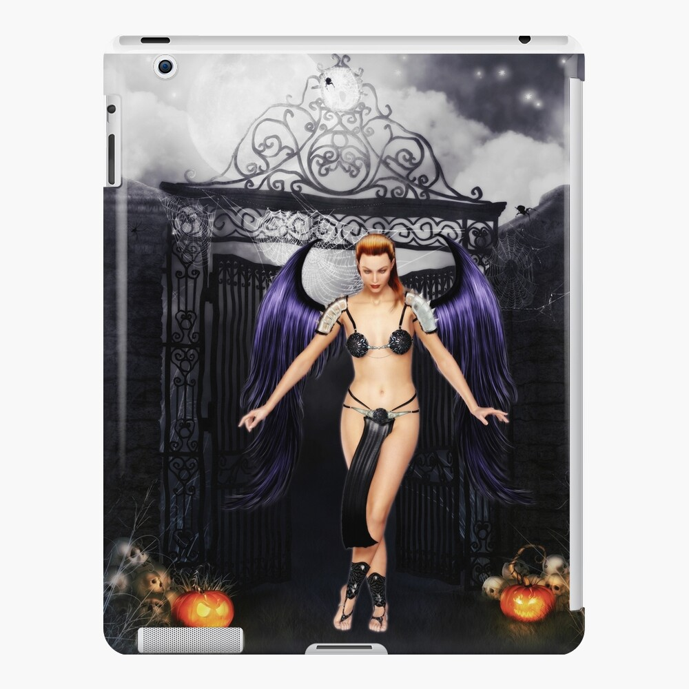 Fallen Angel at the Cemetery Gates iPad Case & Skin