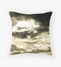 Golden sunset with a chance of sprinkles..... Throw Pillow