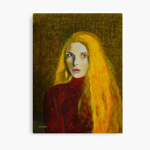 Woman with Golden Hair Canvas Print