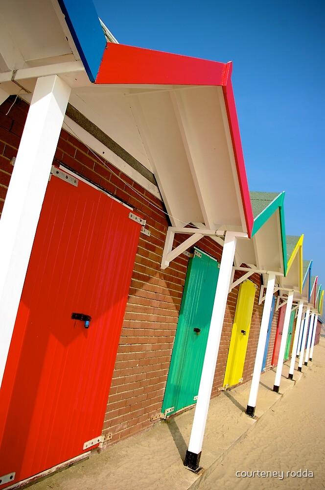 Seaside Huts by courteney rodda