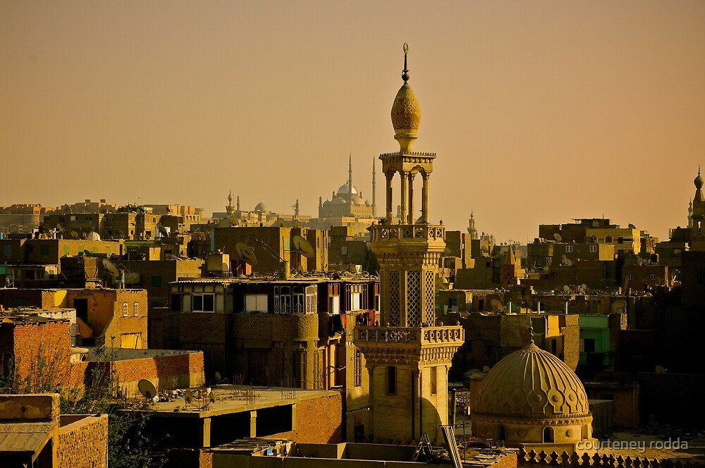 Rooftops of Cairo by courteney rodda
