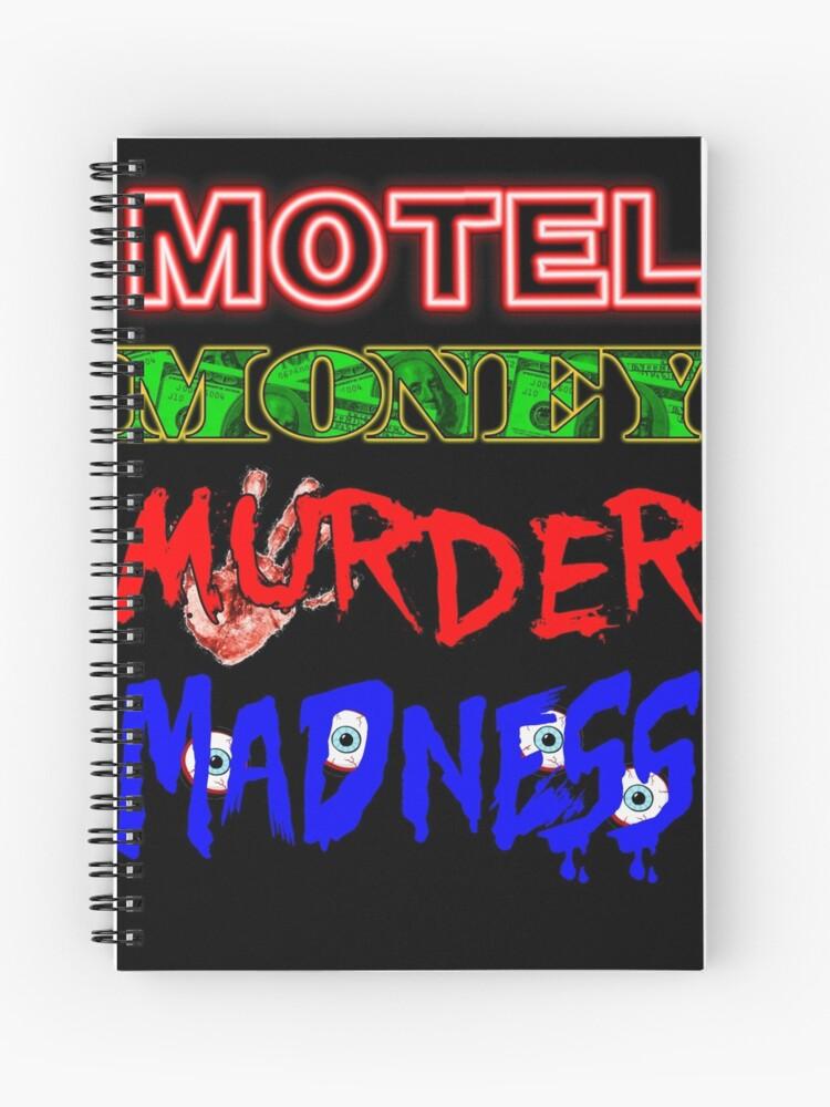The Doors LA Woman Motel Money Murder Madness Design | Spiral Notebook
