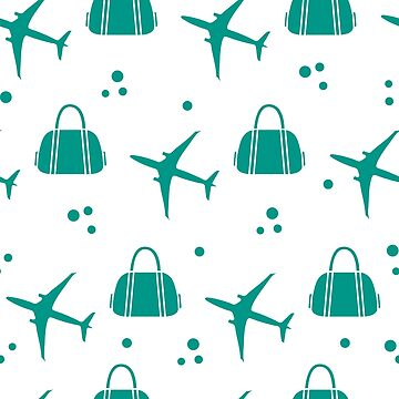 Seamless pattern with planes and bags. by aquamarine-p