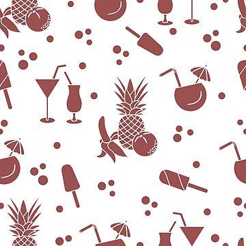 Cocktails, ice cream, pineapple, orange, banana. by aquamarine-p