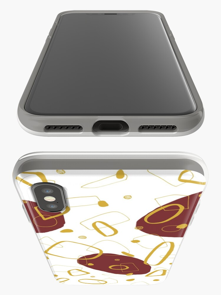 Alternate view of Doodle Pattern 01 #redbubble #doodle #pattern iPhone Case & Cover