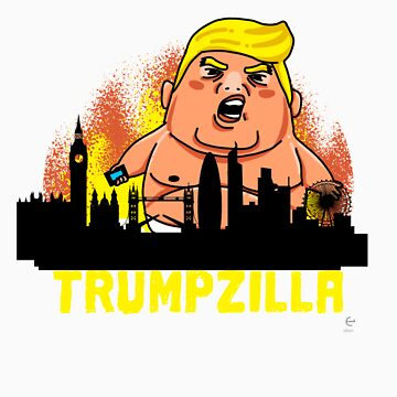 Trumpzilla invading london gift by LikeAPig
