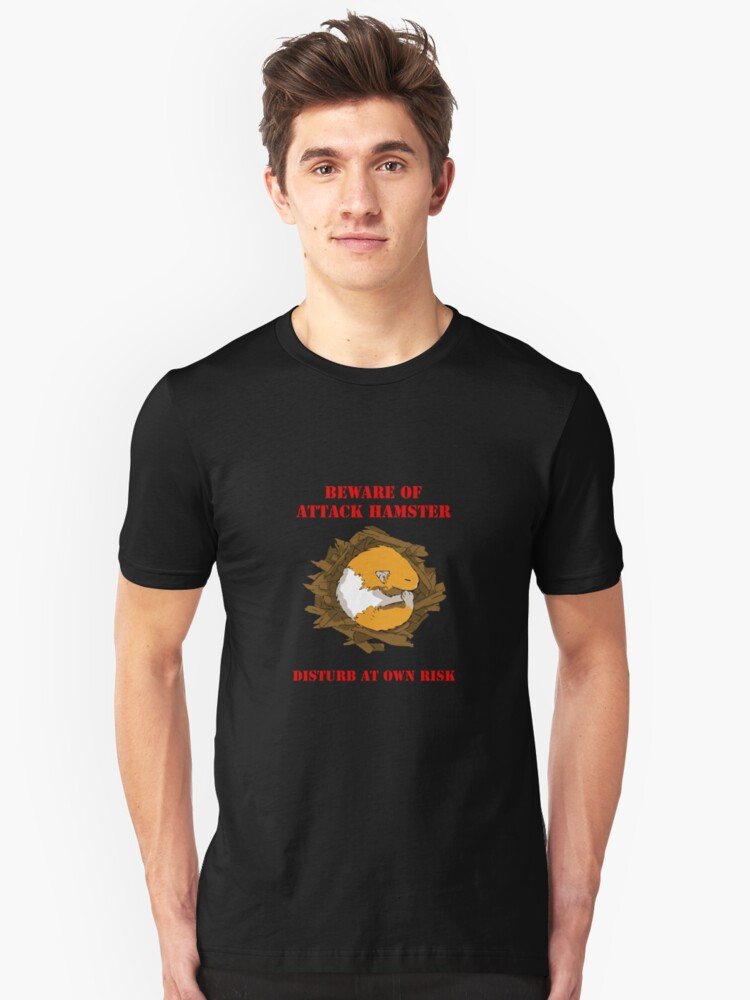 Attack Hamster Unisex T-Shirt Front
