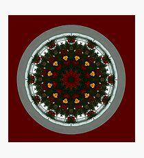 Christmas Kaleidoscope Digital Design Photographic Print