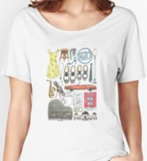 La La Land Illustration Jazz Saxophone Music Musical  Women's Relaxed Fit T-Shirt