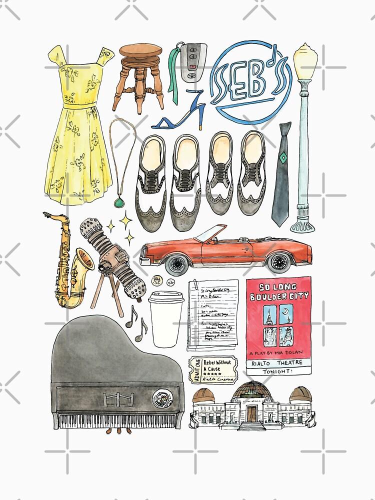 La La Land Illustration Jazz Saxophon Musik Musical von flatlaydesign