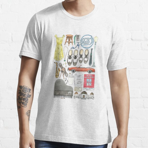 La La Land Illustration Jazz Saxophone Music Musical  Essential T-Shirt
