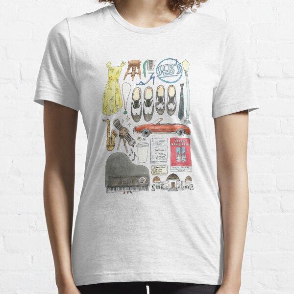 La La Land Illustration Jazz Saxophone Musique Musical T-shirt essentiel