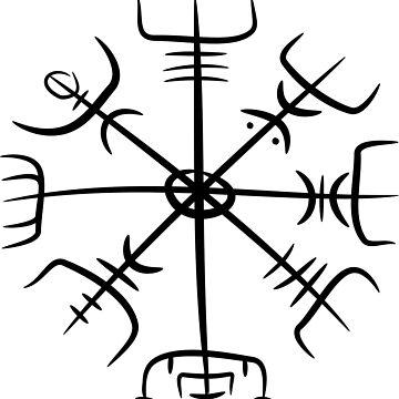 vegvesir drawing by Hunrech