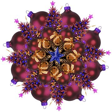 purple ornaments mandala by burenkaUA